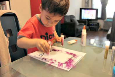 Fathers Day art project glitter